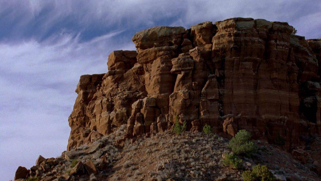 Um pequeno planalto do deserto de Albuquerque