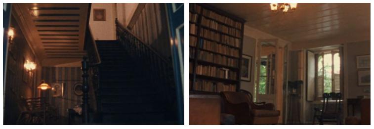 Imagens do inconsciente. Em oposição, a representação visual das casas onde a mãe de Fernando trabalhava.