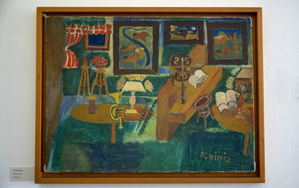 Imagens do inconsciente. Um dos muitos quadros de Fernando onde instrumentos musicais estão presentes.