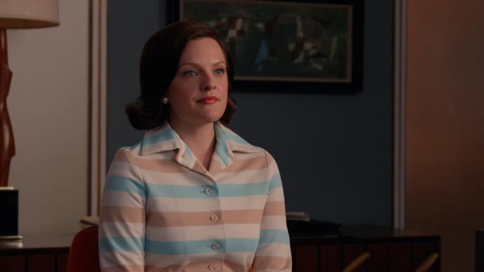 Peggy encarando Don de forma séria