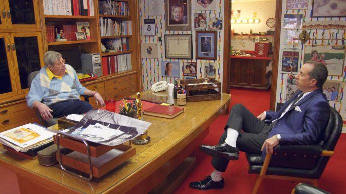 Jerry Seinfield entrevistando Jerry Lewis em seu escritório