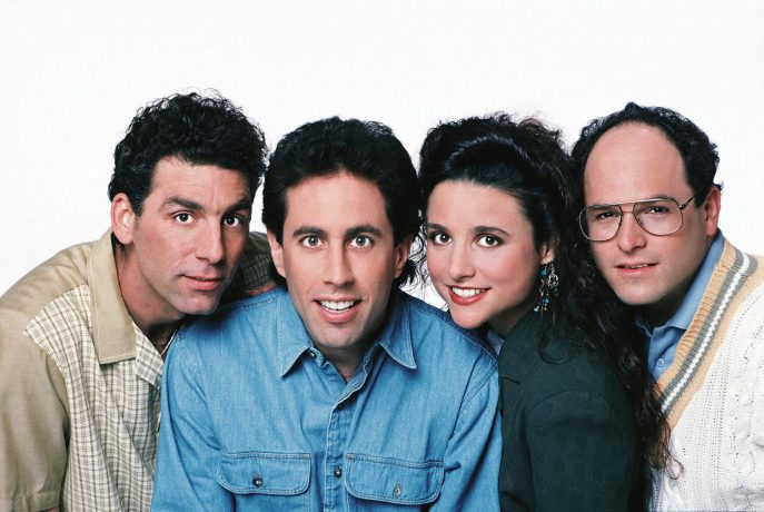 O Elenco de Seinfield posando para foto