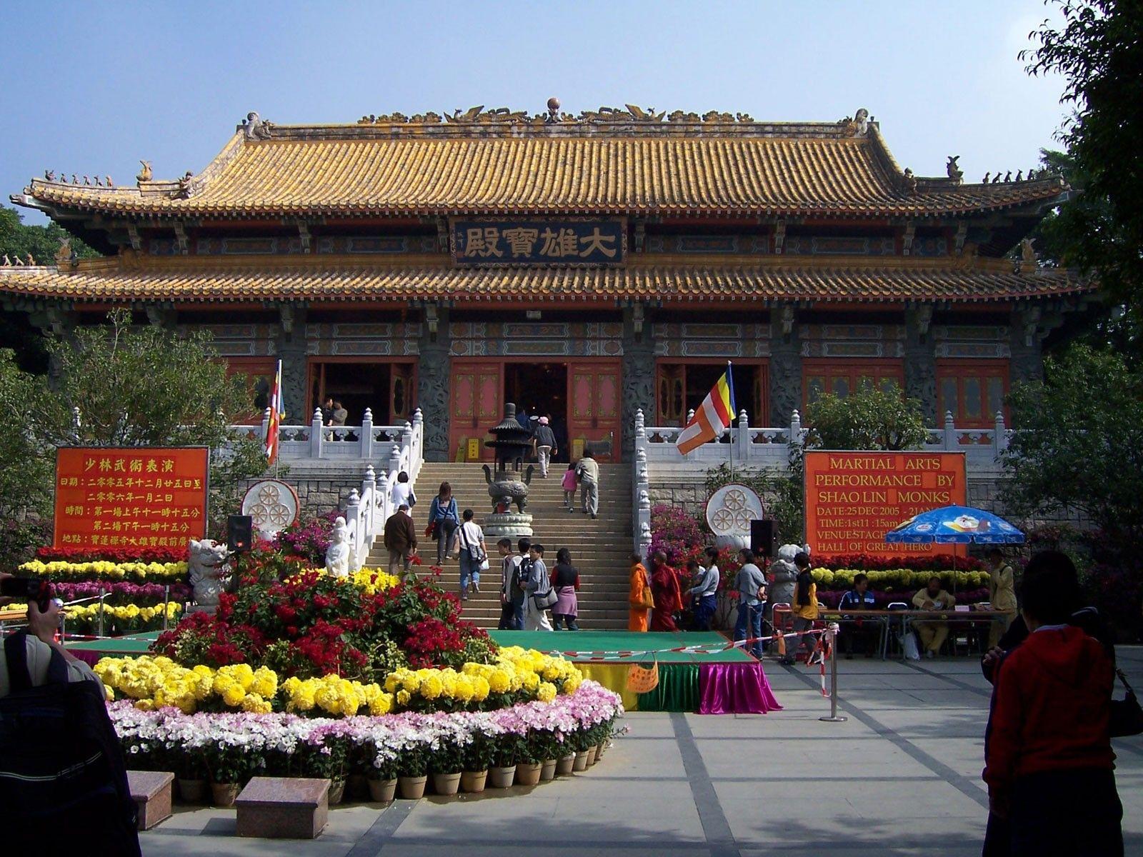 Monastério Po Lin, localizado nas montanhas de Hong Kong