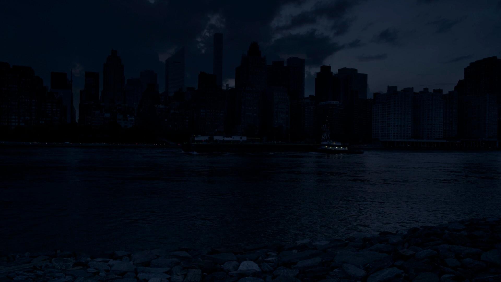 Vista da cidade de Nova York em meio ao apagão