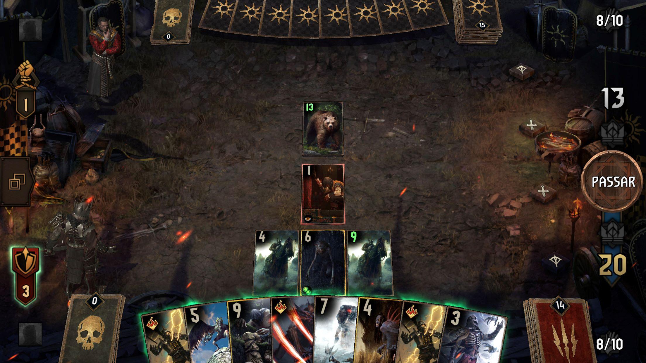 campo do jogo de carta Gwent